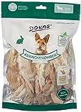 DOKAS Kaninchenohren mit Fell – Getreidefreier Premium Natursnack für Hunde aus 100% Kaninchen – Lang für große Hunde – 1 x 180 g