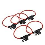 Portafusibili da 5 pezzi Portafusibili per auto in linea Portafusibili Portafusibili impermeabili in linea Portafusibili da lama 12V 30A