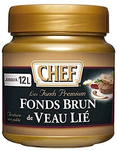 CHEF Fonds Brun de Veau Lié Premium en pâte Fonds - Aides Culinaires, sauce - Pot de 600g