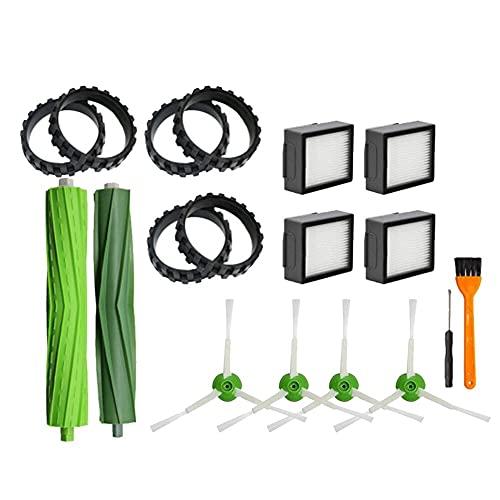 Accesorios de aspiradora 19pcs Neumáticos Filtro FIT FIT FOR IROBOT FIT FOR HABITACIÓN I7 E5 E6 Series Accesorios de aspiradora Herramientas de limpieza doméstica Herramientas de limpieza de la aspira