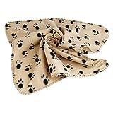 <span class='highlight'><span class='highlight'>Cikuso</span></span> Pet Blanket Dog Cat Soft Warm Sleep Mat Paw Printed Small Size Fleece Blanket Bed Mat -Brown