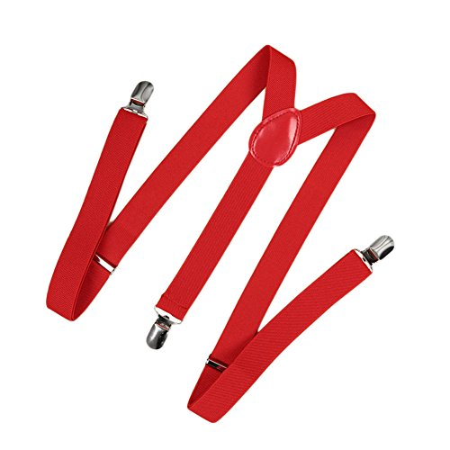 Romacci - Fascia elastica da uomo e da donna, a forma di Y Rosso 1 Taglia unica