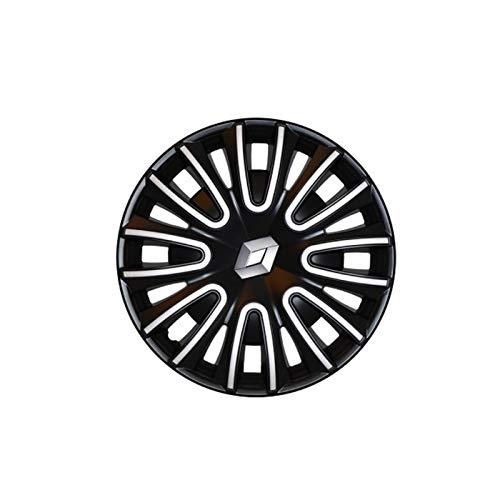 _Renault Radkappe schwarz glänzend 15 Zoll mit Rand Farbe Silber