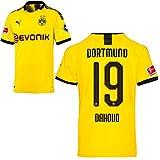 PUMA Borussia Dortmund BVB Heimtrikot 2019/20 Home Trikot Sponsor BL Logo Herren Mahmoud Dahoud 19 Gr S