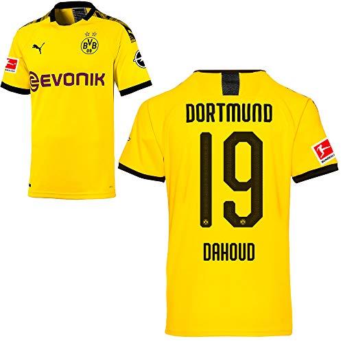 PUMA Borussia Dortmund BVB Heimtrikot 2019/20 Home Trikot Sponsor BL Logo Kinder Mahmoud Dahoud 19 Gr 152