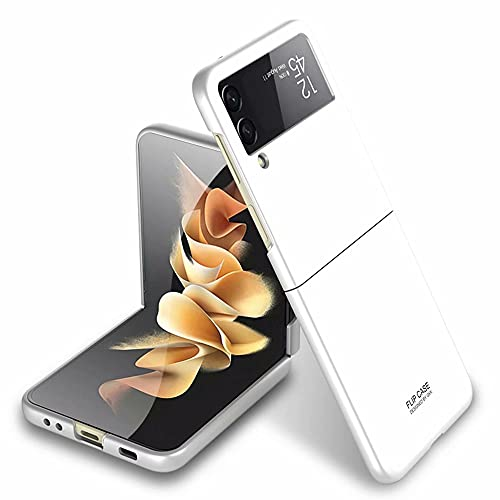 FTRONGRT Hülle für Samsung Galaxy Z Flip 3, Ultra Dünn, Leicht, Anti-Kratzer, Stoßstange Hardcase Handyhülle für Samsung Galaxy Z Flip 3-Weiß