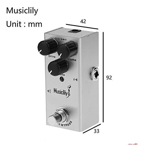 Musiclily Basic Mini Pedal de Efectos de Guitarra Eléctrica DC 9V Adaptador Powered True Bypass, Ultimate Drive