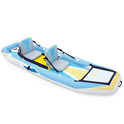AA-PHUJ DMUC Inflatable Kayak - 2 Man Canadian Canoe, Sea...