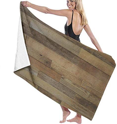 Toalla de Playa Rústico Viejo Granero Madera Decorativa Microfibra Grande para Niños Adultos Ideal para Nadar Viajes Yoga Deportes Camping Cubierta De Tumbona Toalla De Ducha De Baño 80X130 Cm