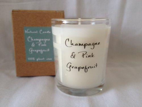 Chichi Gifts by Heaven Scents Pink Fizz & Grapefruit 100% cera vegetale naturale candela profumata in vetro votive