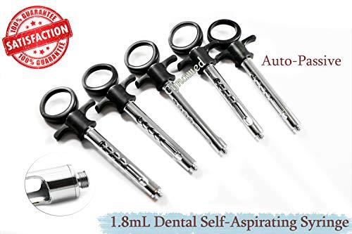 1.8mL SELF-ASPIRATING Anesthesia Dental Syringe AUTOPASSIVE Premium (CYNAMED)
