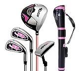 FORIDE - Juego completo de palos de golf para mujer con palos de golf y bolsa de soporte para mujeres y principiantes (4 ejes de acero medio juego de pistola)