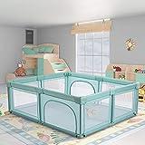 Recinto Box per Bambini Recinto di Sicurezza Protettiva per Bambini Centro Attività all'interno e all'esterno con Ventosa, Ampio Punto di Ingresso per Gattonare Dentro e Fuori (200 * 180 * 68cm)