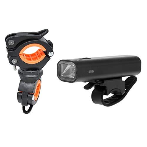 Amuzocity Kit de Luz de Bicicleta Recargable USB Impermeable con Portalámparas