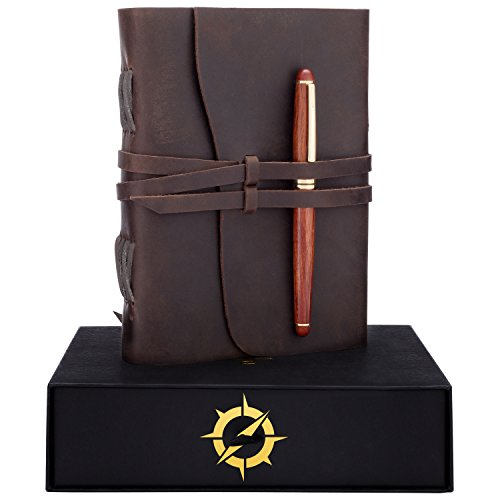 Leather Journal Gift Set Rosewood Pen Handmade Notebook Unique Gifts Ideas Best Personalized Anniversary Birthday Gifts For Men Women Buy Online In India At Desertcart