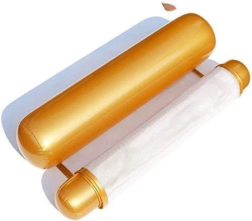 Piscina plegable, cama de la piscina flotante inflable, hamacas flotantes, doblando hacia atrás dobles juguetes de agua cama de adultos flotantes inflables juguetes Party (Color: I) peng ( Color : D )