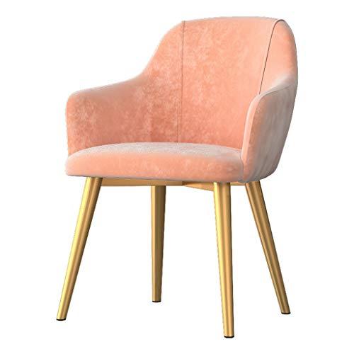 Dining Chair Silla de escritorio hermosa, simple, respaldo creativo, silla de ocio, para adultos caseros fuertes (color: rosa)