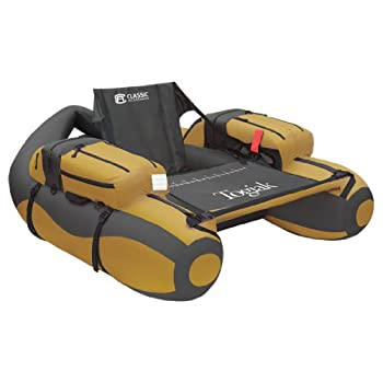 Classic Accessories Togiak Inflatable Fishing Float Tube With Backpack Straps  Gold/Gray  54.25 x 47.00 x 19.00 Inches