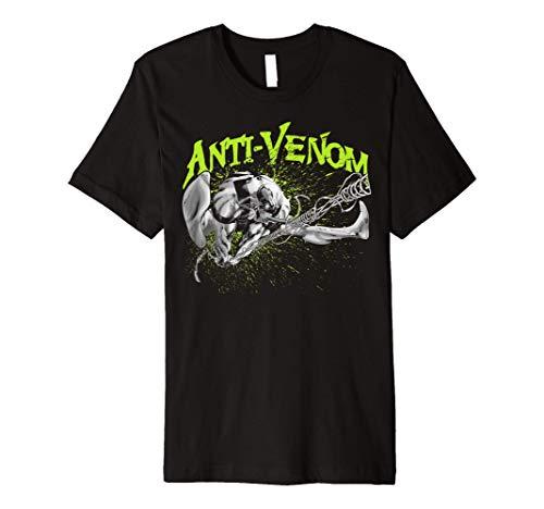 Marvel Anti-Venom Green Splatter Web Swing Action Shot Premium T-Shirt
