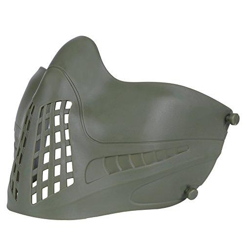 Huntvp Taktische Maske Schutzmaske Militär Halbe Gesichtsmaske Tactical Mask Paintball Maske fürHerren Damen Airsoft Softair CS Spiel Cosplay