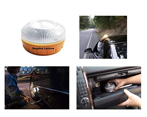 Luz de Emergencia para Vehículos. Señal V16, homologada, Compatible con la Normativa de Seguridad Vial Vigente. (5)