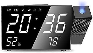 "LBell Projection Alarm Clock, 6.3"" Projection Clock, FM Radio Alarm Clock, Dual Alarm with USB Charging Port, 12/24 Hours,..."
