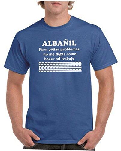 Camisetas divertidas Child albañil, para Evitar Problemas no me digas como Hacer mi Trabajo - para Hombre Camisetas Talla XL Color Azul
