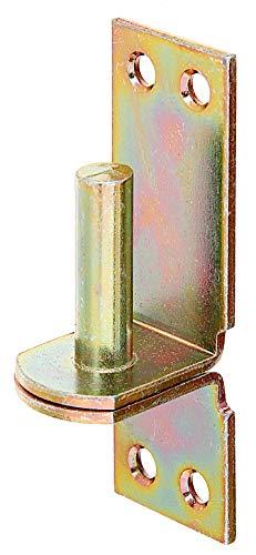 Gah-Alberts 311438 gonds sur équerre à visser Jaune Diamètre du gond en acier galvanisé zingué : 13 mm Distance entre le gond et l'équerre : 25 mm Dimensions de l'équerre : 105 x 35 mm