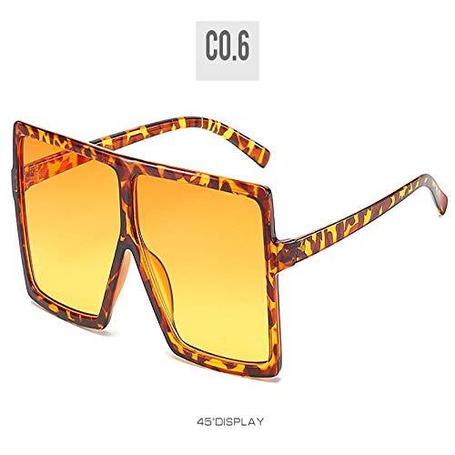 Gafas De Sol Nuevas Gafas De Sol Cuadradas De Gran Tamaño De Moda Vintage para Mujer, Diseñador De Marca Famoso, Montura Grande, Gafas De Sol para Mujer Uv400