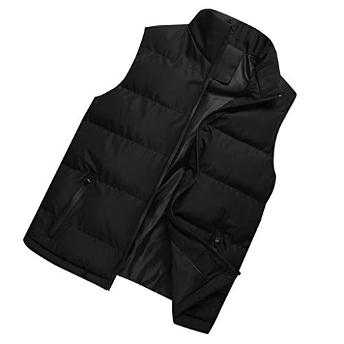 Manteau en Coton Doudoune Homme Gilet San Manches Mode Vintage Blouson Hiver Chaud Grand Taille Pas Cher Veste Zippe Tops