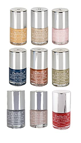 DeBelle Gel Nail Polish Combo Set Of 9 Yas Queen-Almond Blush (Orange Brown), Victorian Beige (Beige), Marshmallow Crush (Pearl...