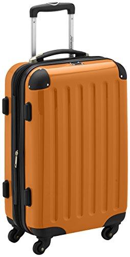 HAUPTSTADTKOFFER - Alex - Handgepäck Hartschalen-Koffer Trolley Rollkoffer Reisekoffer Erweiterbar, 4 Rollen, TSA, 55 cm, 42 Liter, Orange