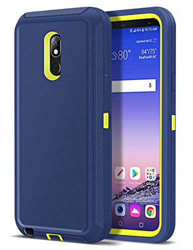Jelanry Heavy Duty Armor for LG Stylo 5 Case Dual Layer Full Body Protective Shell LG Stylo 5 Plus Case Shockproof Sports Rugged Case Anti-Scratches Cover Non-Slip Bumper Hybrid Case Deep Blue/Green