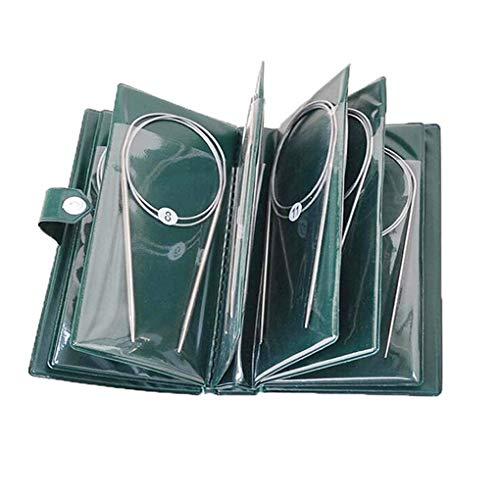 CYH Set de Agujas de Tejer Circulares, 11 piezas Agujas