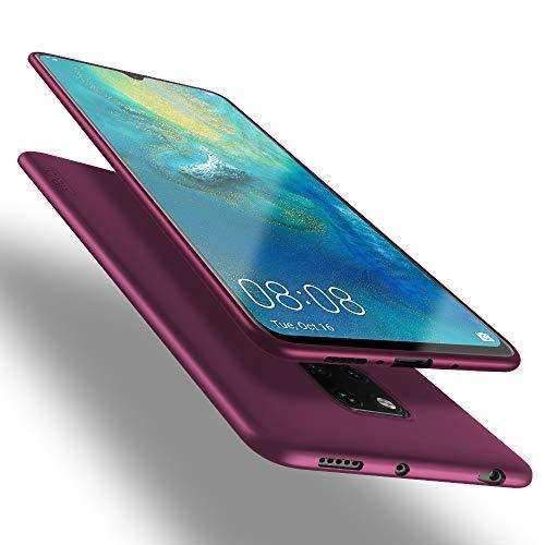 X-level Funda para Huawei Mate 20 X, Carcasa para Huawei Mate 20 X Suave TPU Gel Silicona Ultra Fina Anti-Arañazos y Protección a Bordes Funda Phone Case para Huawei Mate 20 X - Vino Rojo