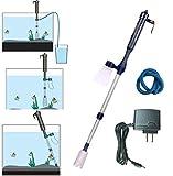 Londafish Kit de nettoyage automatique à batterie électrique pour aquarium Nettoyeur de gravier avec adaptateur