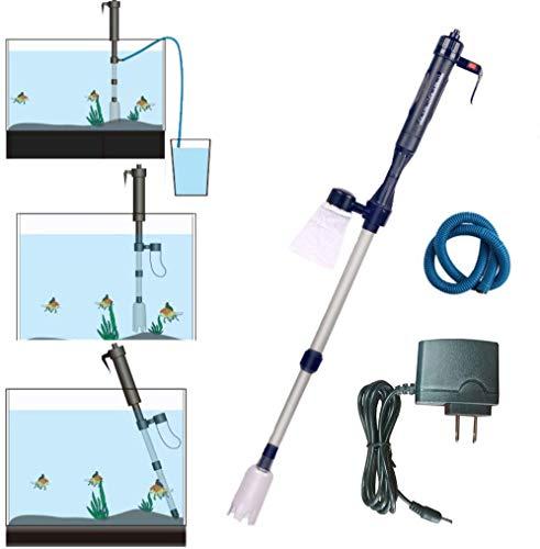LONDAFISH Automatische elektrische Batterie Aquarium Kiesreiniger Kit Filter Vakuum Siphon betrieben Frischsandwaschanlage mit Adapterated Fresh Sand Washer with Adapter