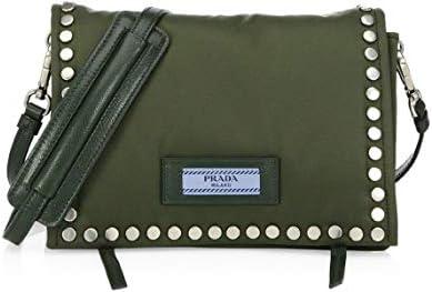 Prada Etiquette Militare Green Studded Mini Tessuto Nylon Crossbody Bag 1BP006 product image