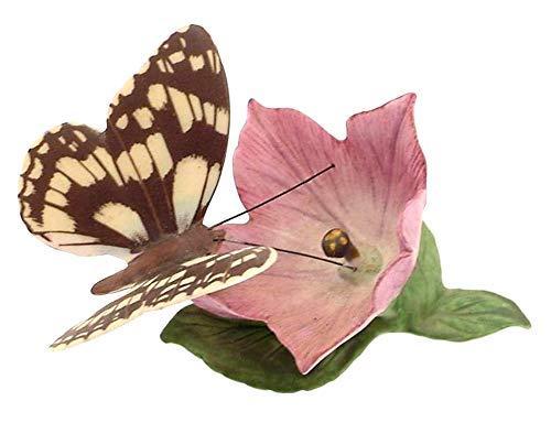Franklin Porcelain Papillons du Monde marbré Blanc Papillon Décorations