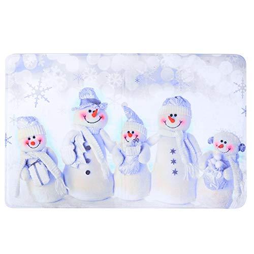 Cafopgrill Kerst Deurmat, 50x80cm Deurmatten Vloertapijten Deurmat Flanel Absorberende Matten Kerst Decoraties voor Huis Deurmat