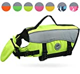 Vivaglory Dog Life Jackets with Extra Padding for Dogs, Small - Extra Reflective Yellow
