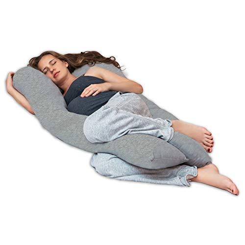 Lilly and Ben® Cuscino Gravidanza Allattamento - Oeko-Tex® - Cuscino Maternita - Cuscino di Sostegno - per Dormire di Lato - 3 Taglie