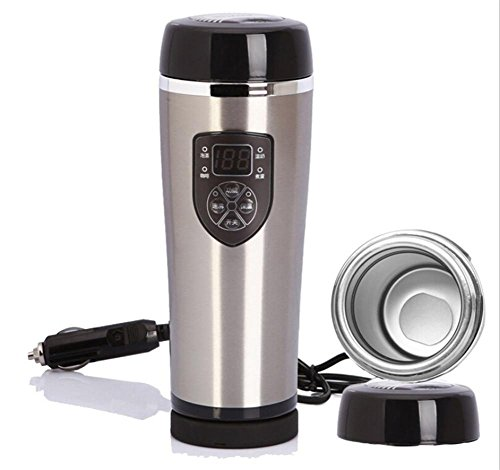 12V voiture électrique chauffe-eau voiture chauffe-eau bouilloire isolation Cup 100 degrés Bouteille isotherme , 3