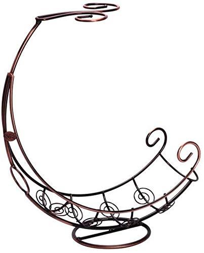 Estantería de vino Forma de almacenaje del vino Hierro forjado Barco titular de la copa de vino paquete de 2 revés titular de la botella de vino vino de almacenamiento del soporte de exhibición de cri