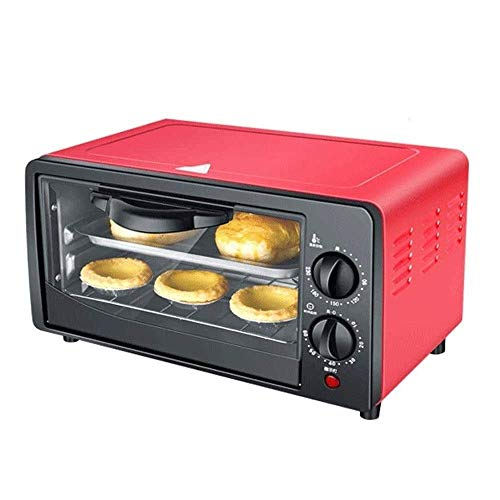 N/Z Home Equipment Multi-function Oven Countertop Convection Toaster Oven with Bake Pan and Broil Rack 12L Mini Oven Adjustable Temperature Rack and Crumb Tray