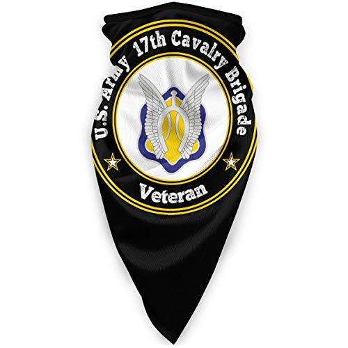 Lzz-Shop Veteran van de 17e Kavallerie-brigade van het Amerikaanse leger winddichte sportschaal-halsverwarmer bandana balaclava hoofddeksel