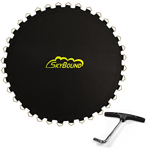 Skybound Replacement Trampoline Mat with Spring Tool, 72 Rings & 150' Wide (fits 5.5' Springs), 14ft...