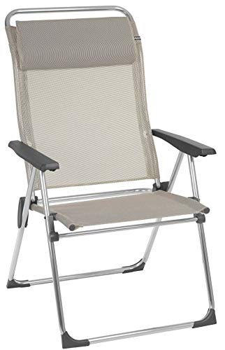 Lafuma Amplia silla plegable compacta portátil, ALU CHAM XL, Batyline, Beige, LFM2774-2178