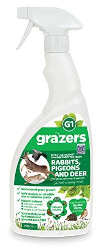 Grazers ltd Grazers G1-Efficace Contre Les dommages causés par Les Lapins, Pigeons, Cerfs, etc. 750 ML Eco Spray prêt à l'emploi, Nylon/A