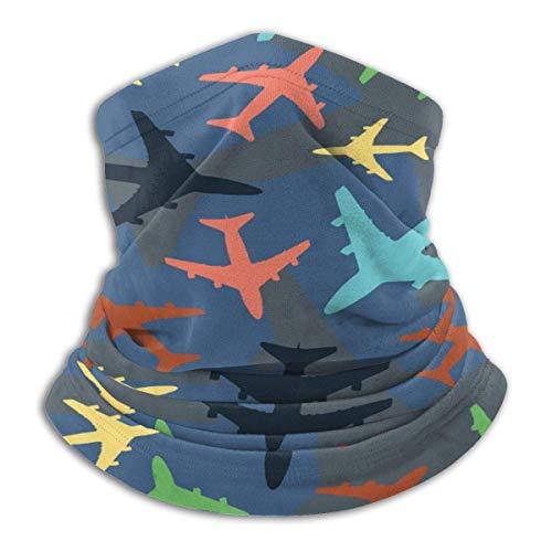 Randy-Shop Vliegtuigen Blauwe Achtergrond Nek Warmer Huid-Frindly Neck Gaiter